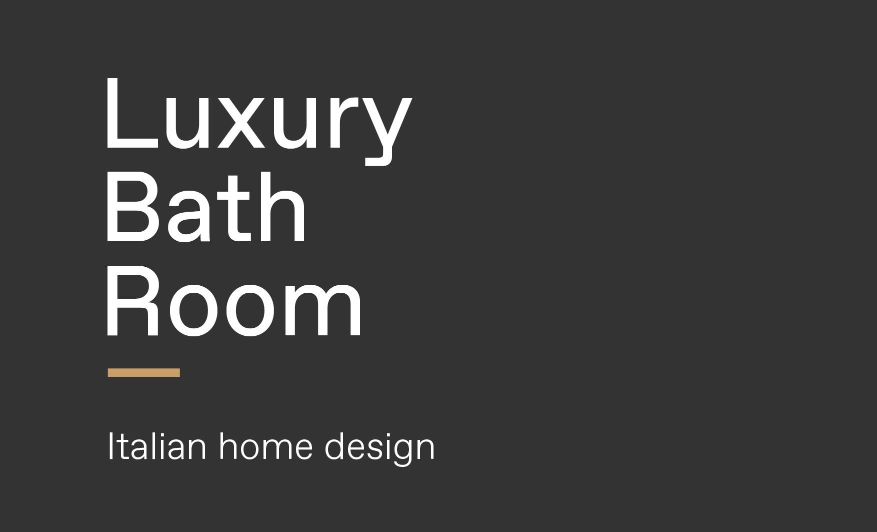 Concept of luxury Italian style bathroom made by Esperiri team