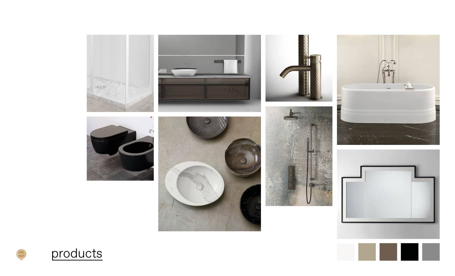luxury Italian bathrooms furniture composition made by Esperiri