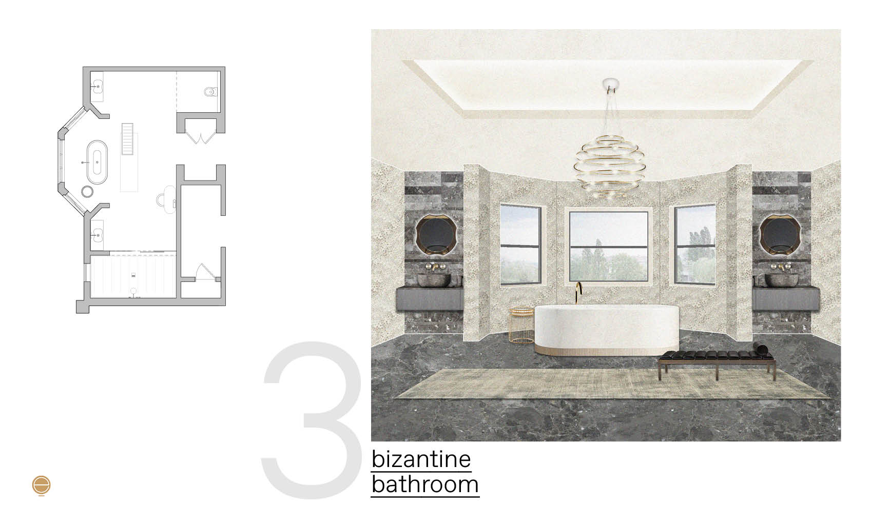 bizantine luxury bathroom design inspiration made by Esperiri