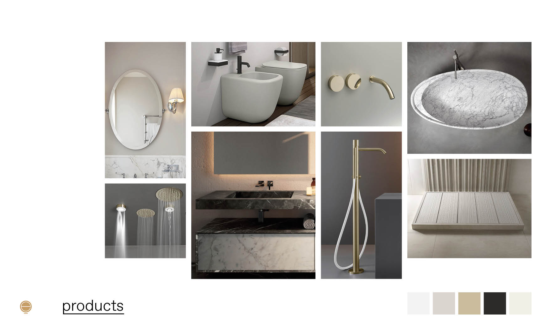 high end furniture of luxury Italian bathrooms
