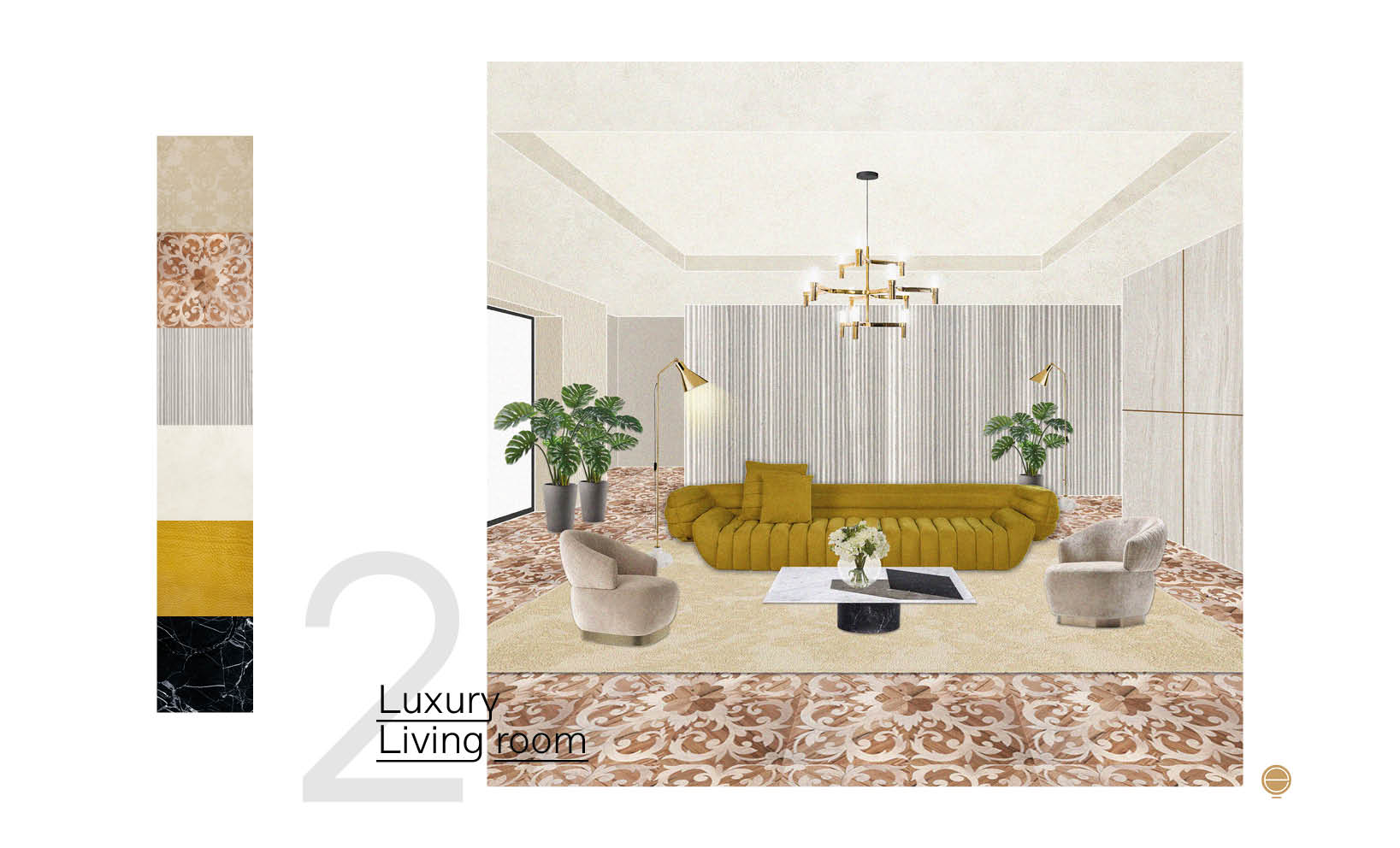 luxury living room furniture composition designed by Esperiri interior designers