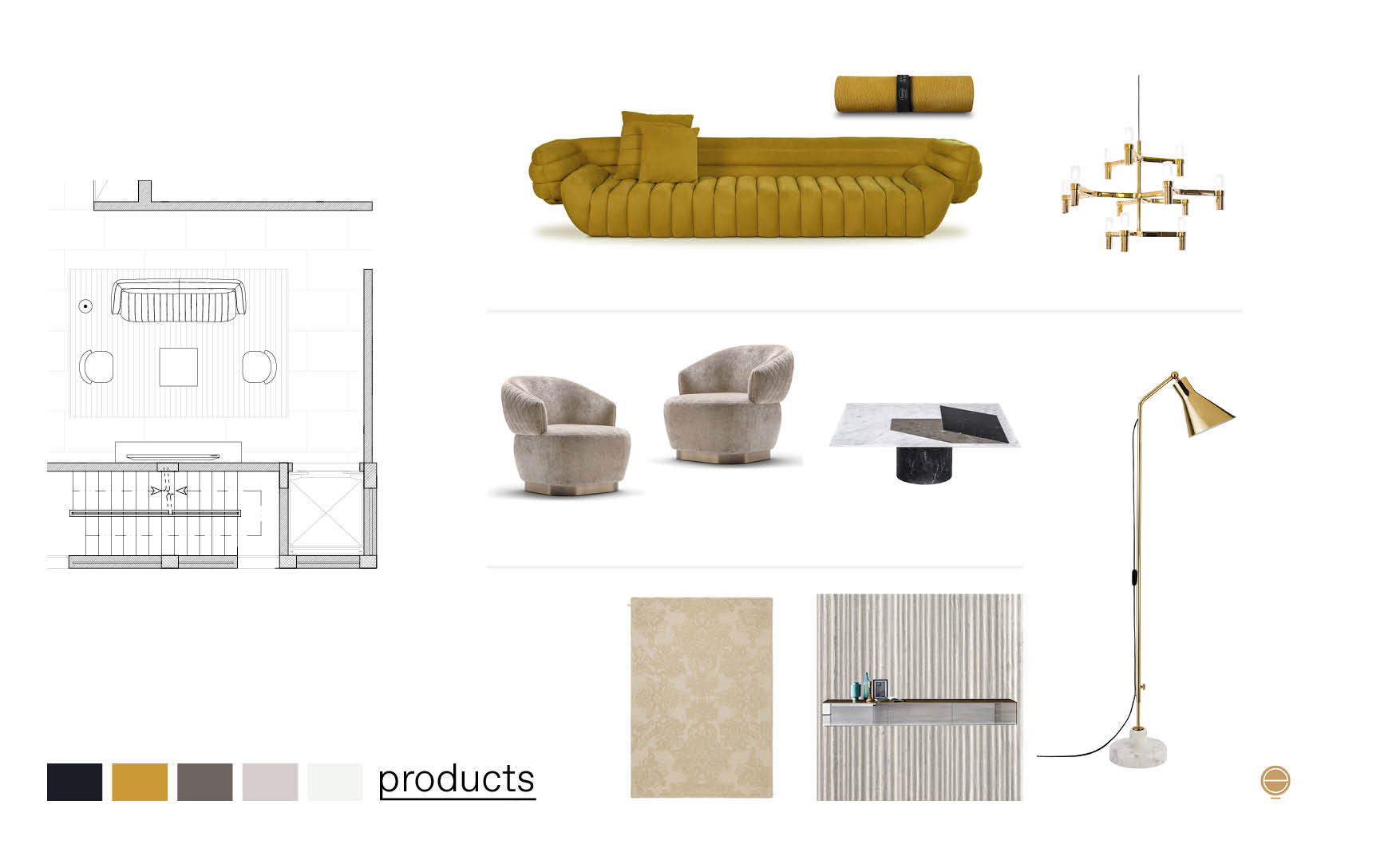 comfy luxury living room furniture products composition made by Esperiri