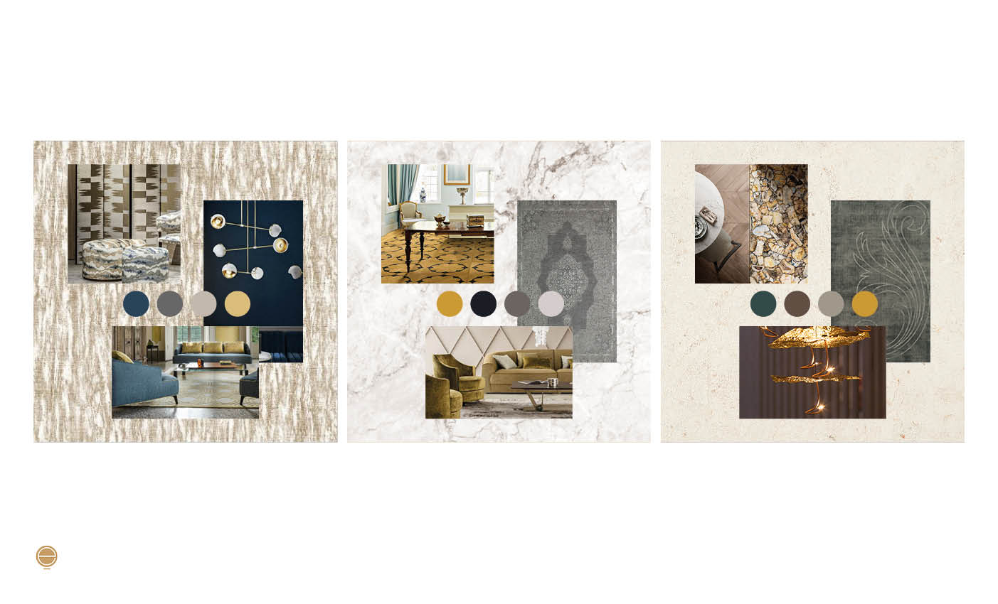 luxury Italian living room concept moodboard designed by Esperiri Milano