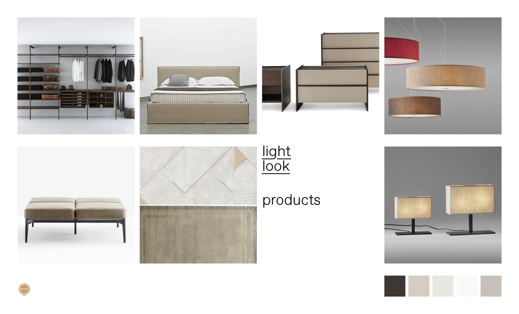 light look Italian modern bedroom furniture composition designed by Esperiri Milano