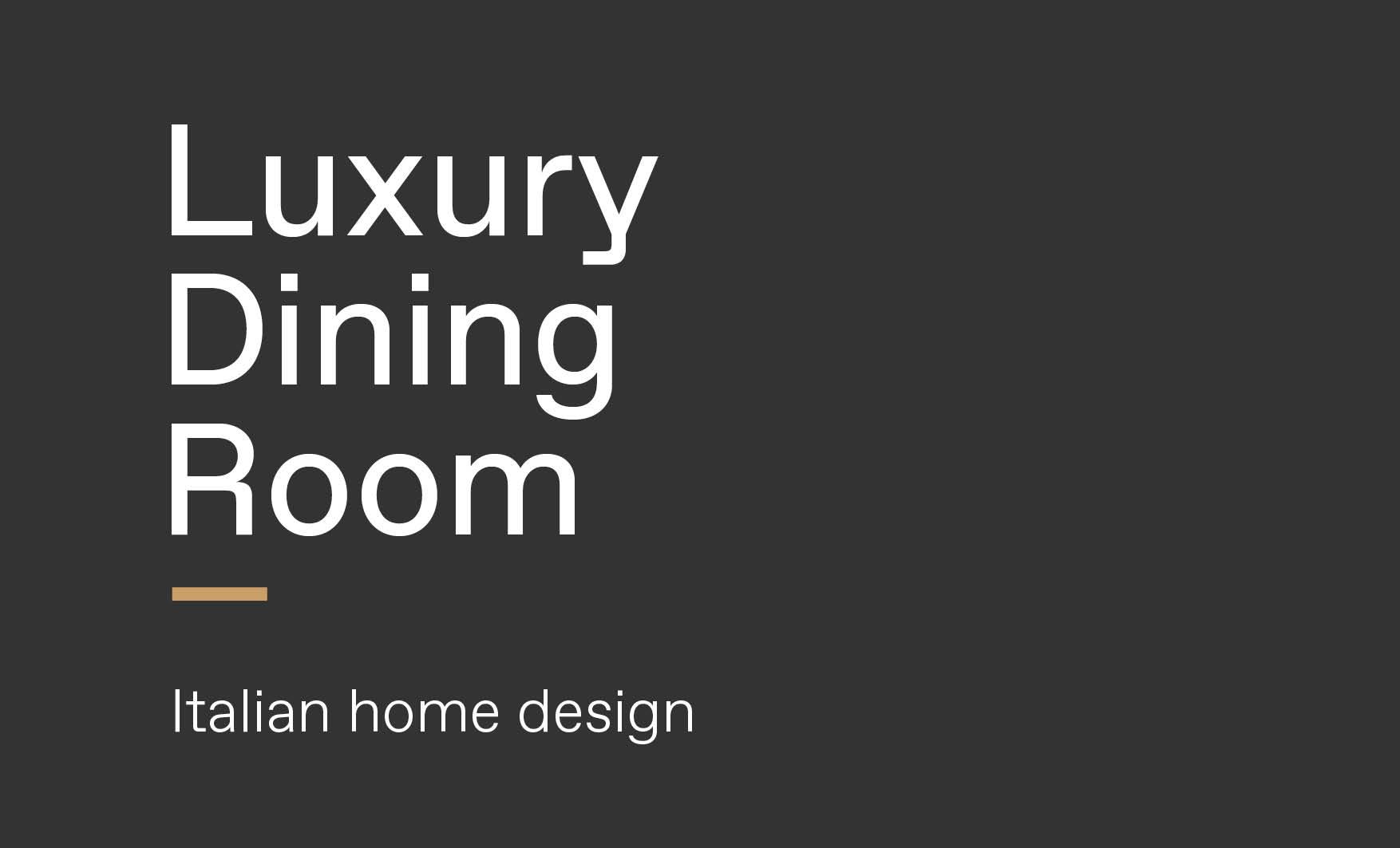 Concept of luxury Italian dining room design made by Esperiri team