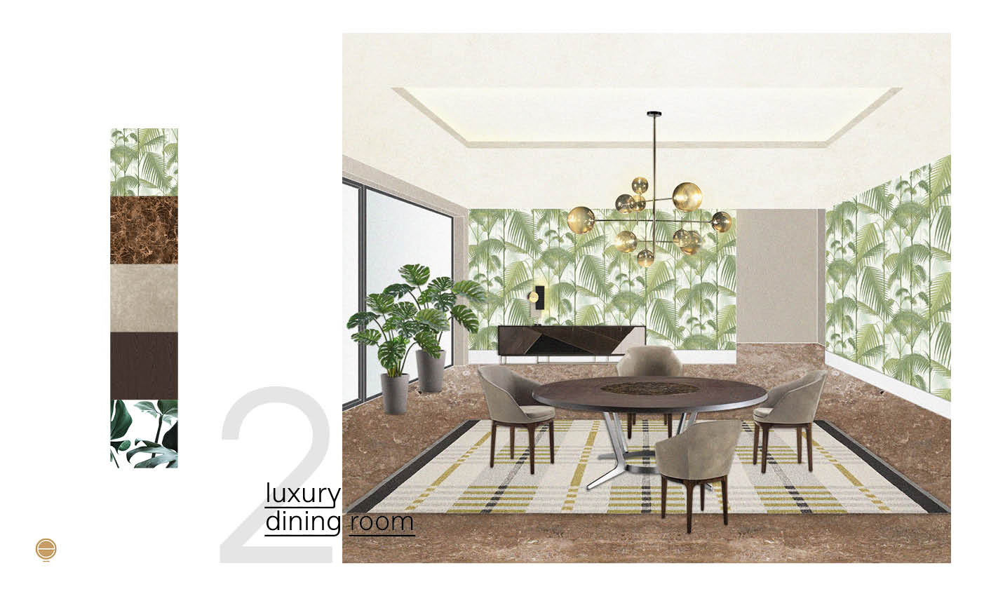 tropical luxury dining room design inspiration