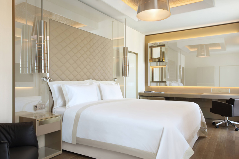 luxury hotels in Milan and Excelsior Hotel Gallia art deco bedroom