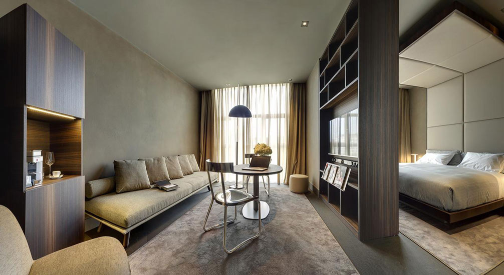 luxury hotels in Milan and Il Duca Hotel contemporary style