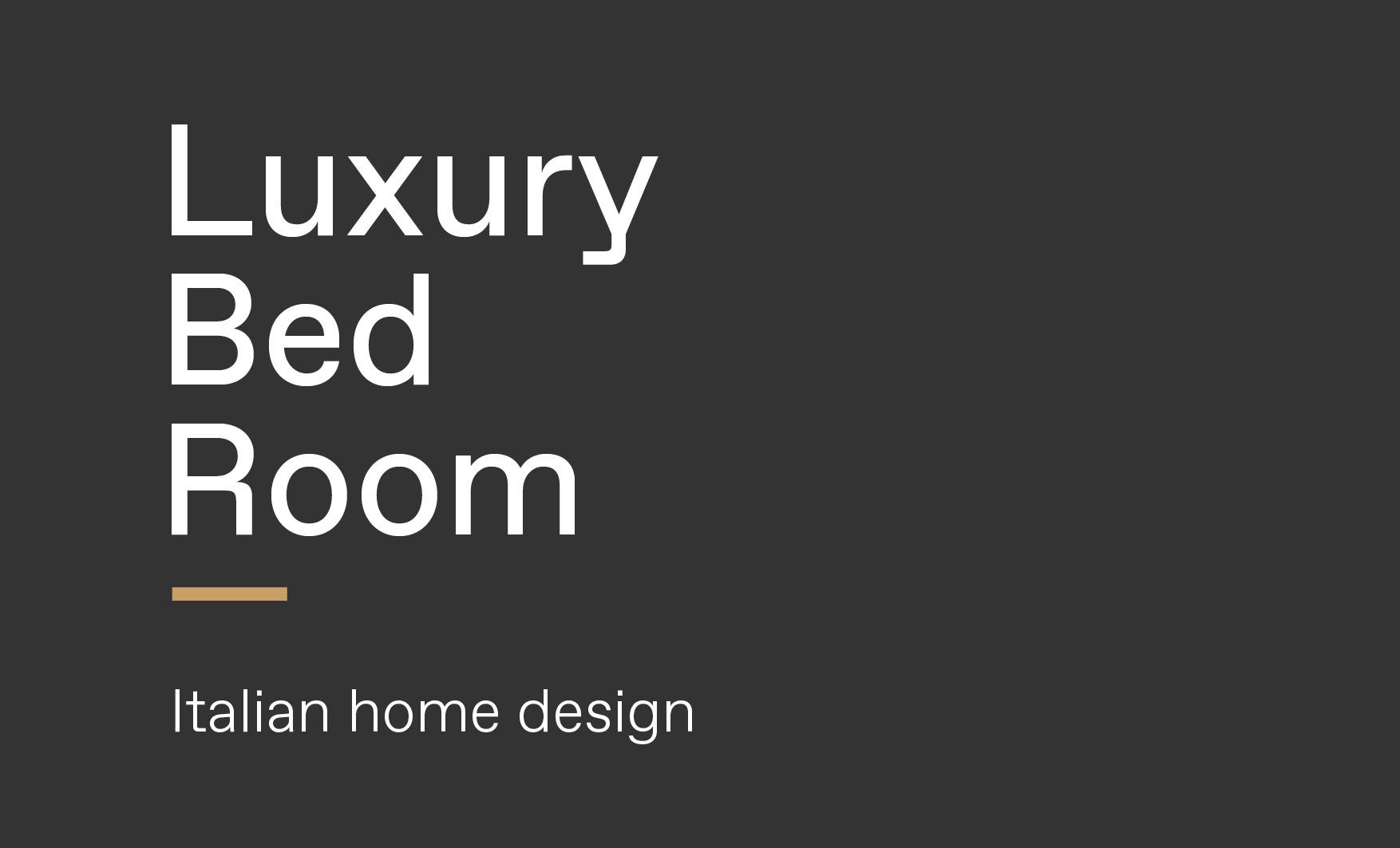 Concept of luxury Italian bedroom design made by Esperiri team