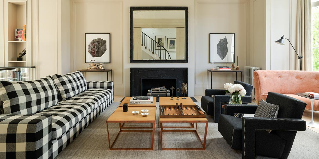 Ashe Leandro studio and its new york apartment interior design project with  flexform sofa and cassina armchairs