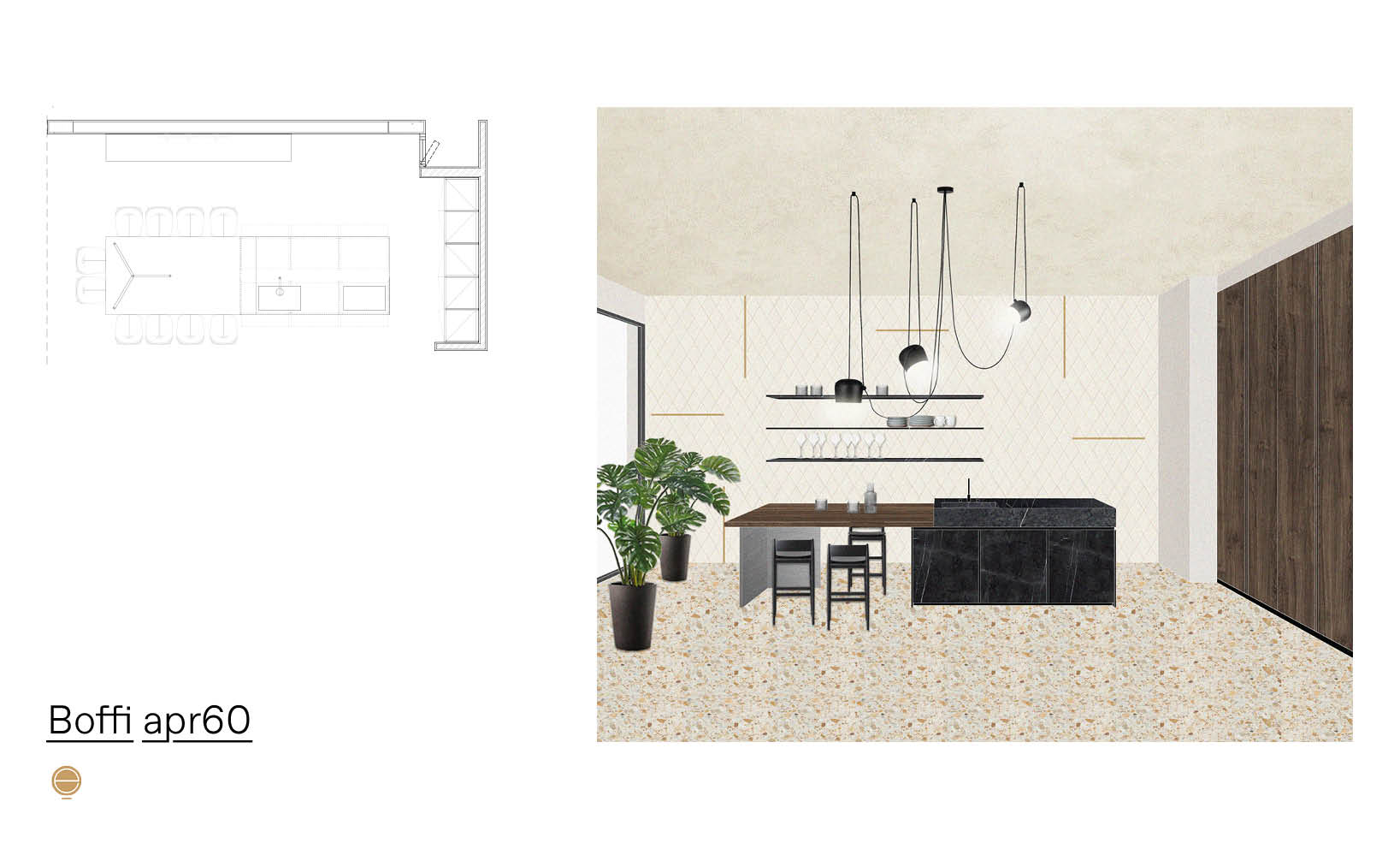 bespoke luxury kitchens and Boffi Apr60 composition designed by Esperiri