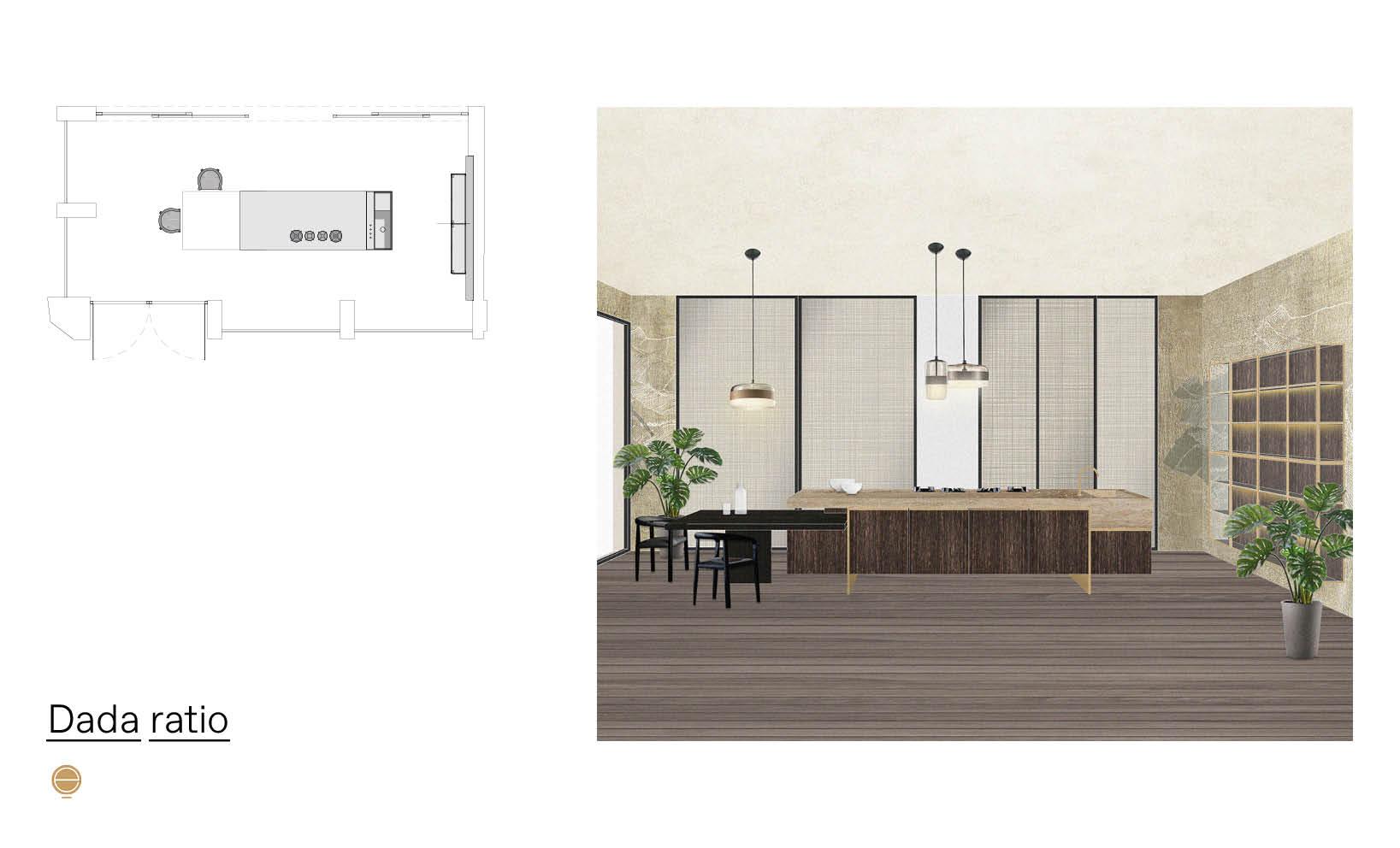 luxury Italian kitchens and dada ratio project inspiration designed by Esperiri