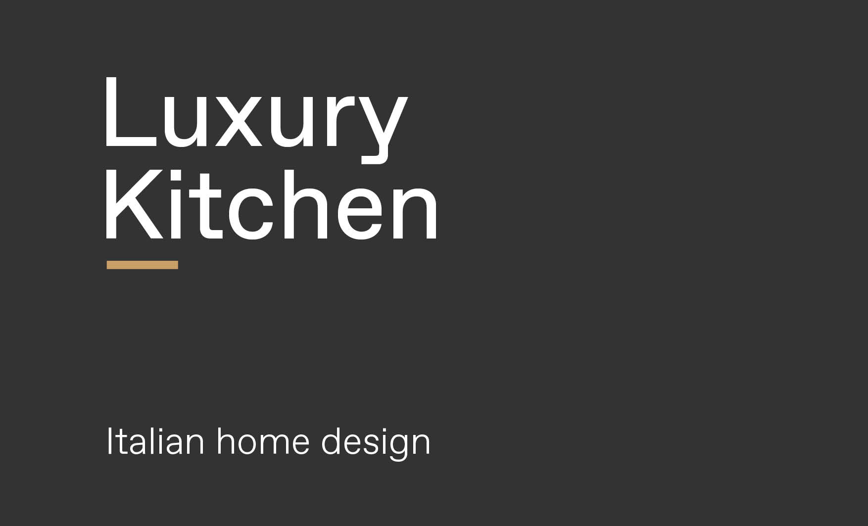 Concept of luxury modern kitchen design made by Esperiri team