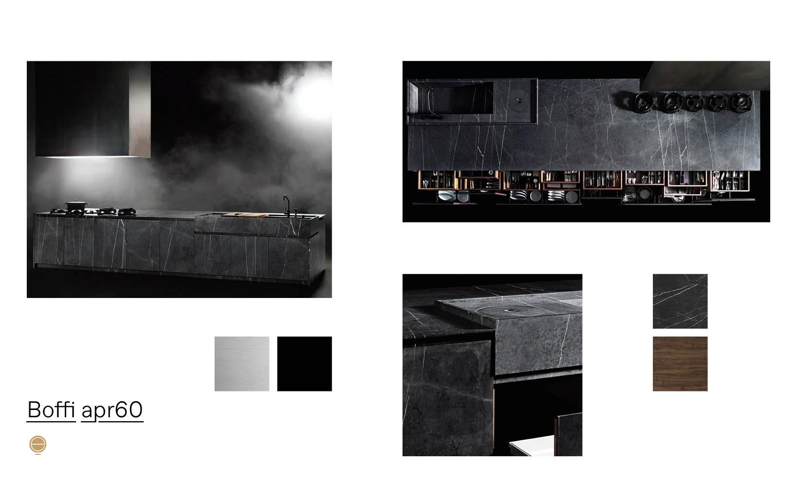 bespoke luxury kitchens and Boffi Apr60 product moodboard made by esperiri