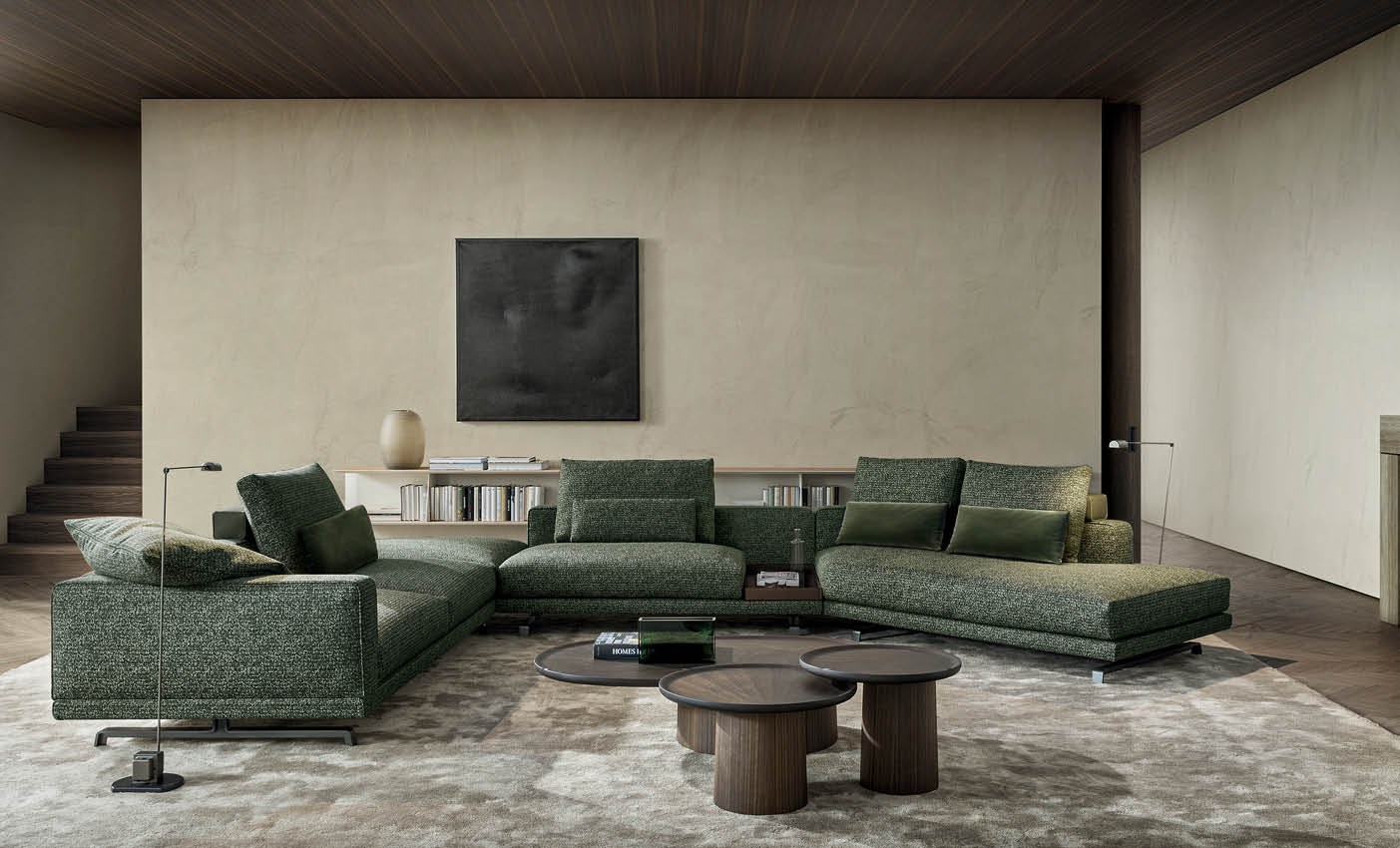 new octave sofa presented by molteni during milan design week 2020