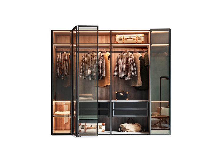 Designer wardrobes and walk-in closets compositions and Italian style bedroom