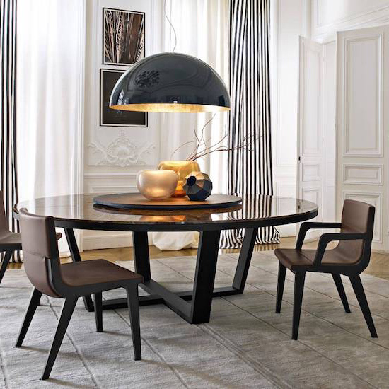 Italian style dining room furniture set composition
