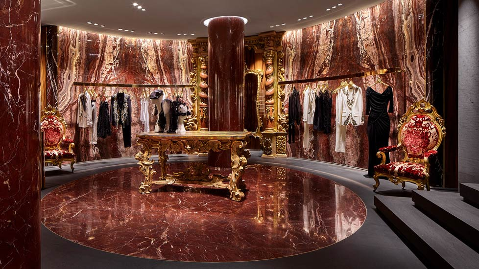 Dolce&Gabbana flagship store and high end shopping in Milan