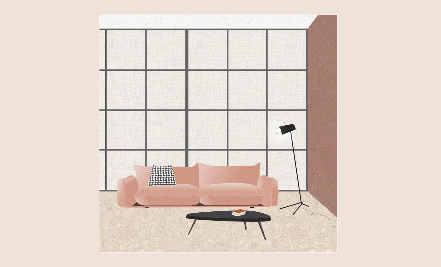 Arflex sofas inspirations with Marenco designed by Esperiri