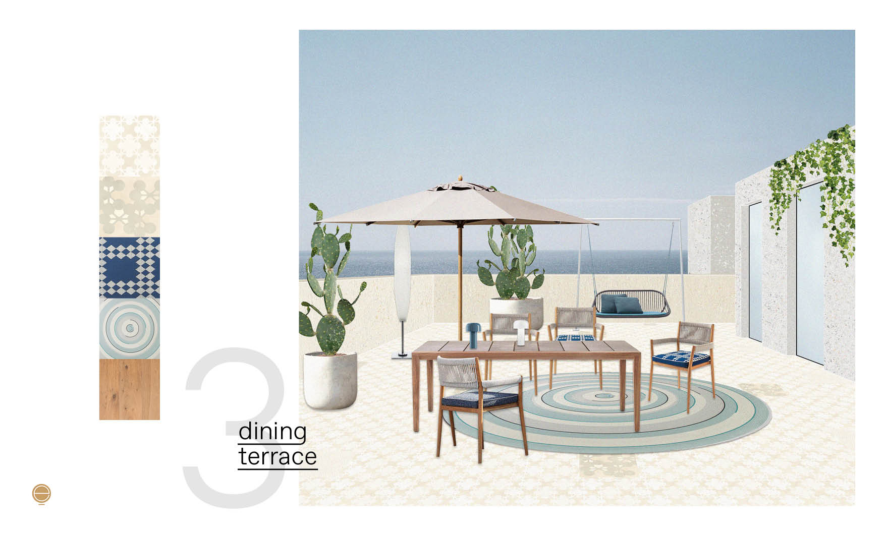 luxury patio design with dining outdoor furniture made by esperiri team