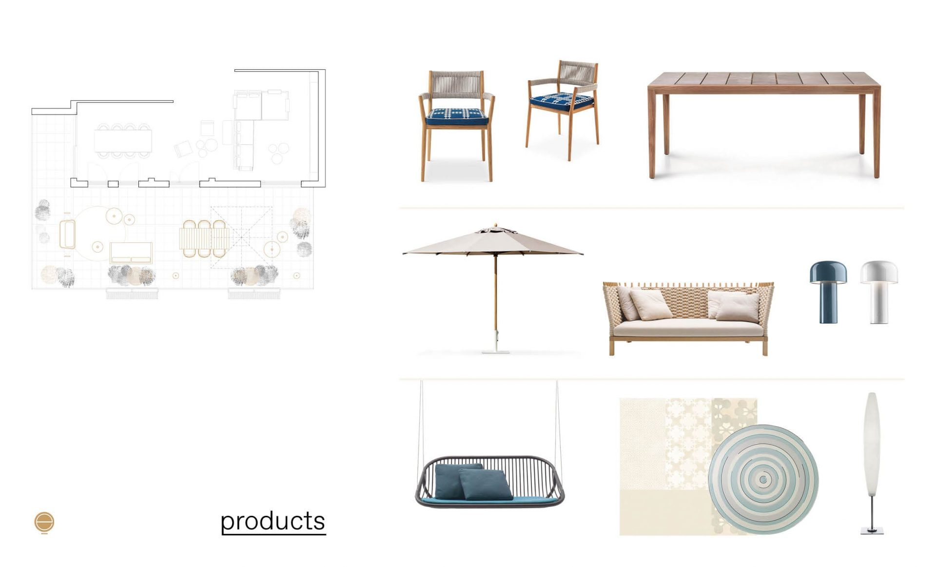 dining luxury modern outdoor furniture composition