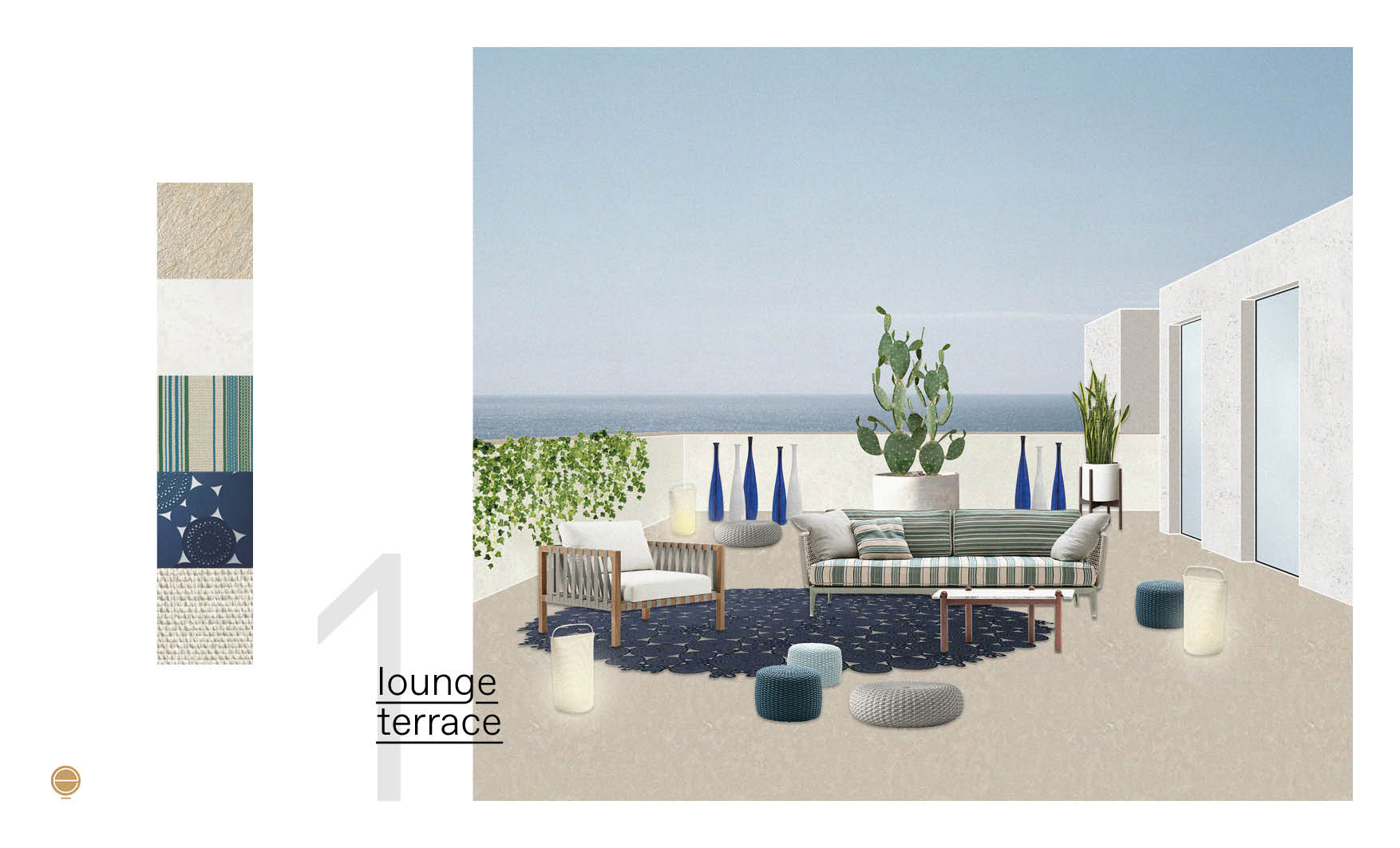 lounge Italian patio design project made by esperiri team