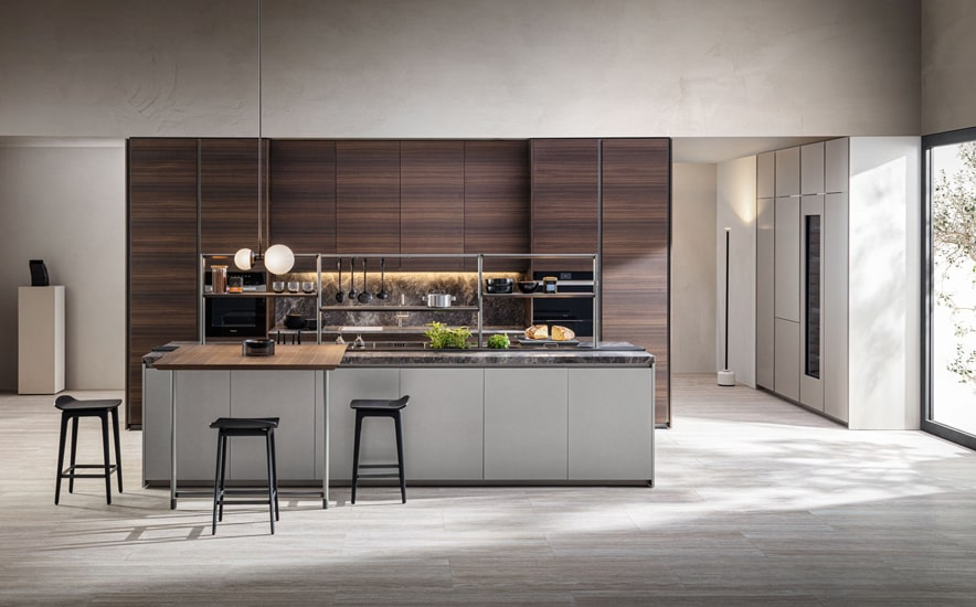 Molteni kitchens and Sistema XY model designed by Francesco Meda