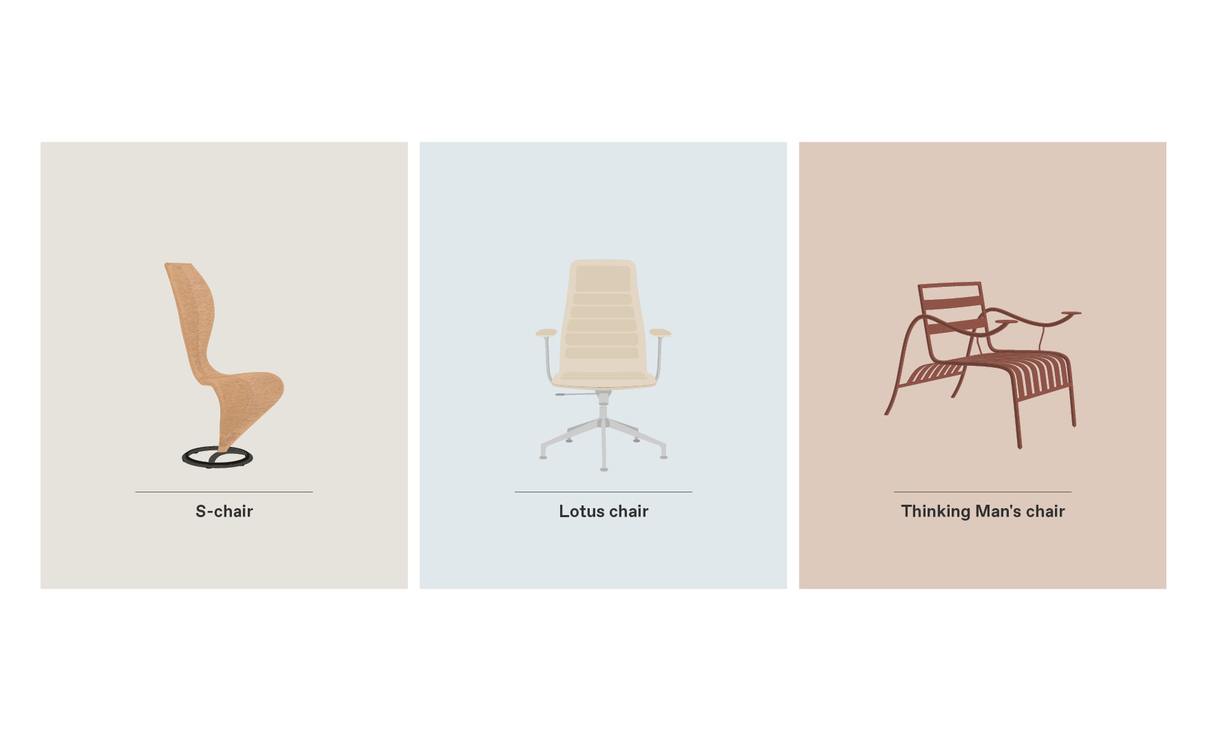 S-Chair Lotus and Thinking Man's Chair Cappellini Chairs design