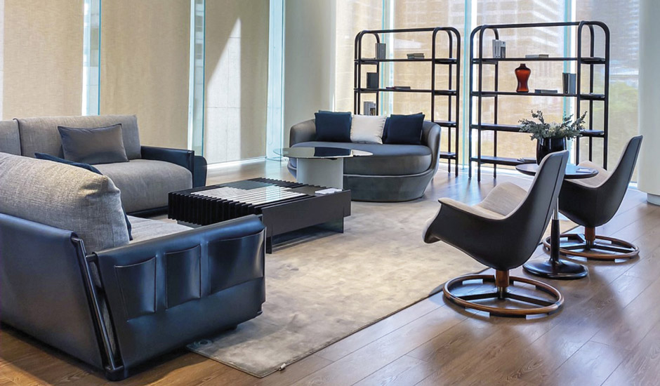 Giorgetti Showroom in Bangkok with the Best Italian Prestigious Canaletto Walnut Products