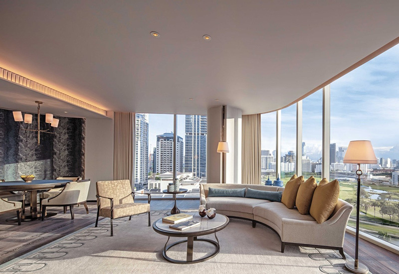 Luxury Living Room in Bangkok designed by one of the Top Interior Design Firm in Bangkok. Ranking by Esperiri