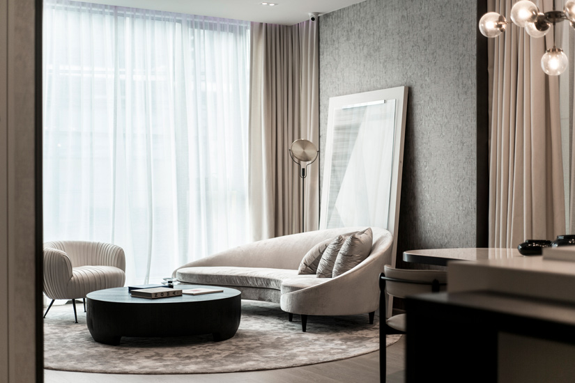 Luxury Living Room designed by Pia Interiors, one of the Best interior designer Bangkok Has to Offer