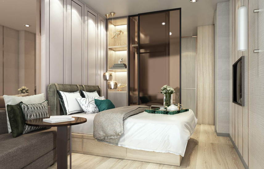 Luxury Compact Apartment in Bangkok designed by one of the Best Interior Design Firm in Bangkok