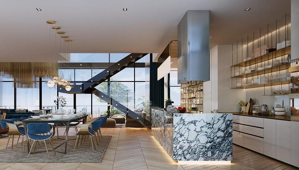 Luxury Kitchen in Bangkok designed by TOFF, an Interior Design Firm in Bangkok. List by Esperiri