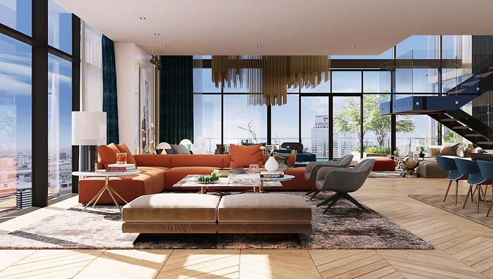 Luxury Loft in Bangkok designed by TOFF, an Interior Design Firm in Bangkok. List by Esperiri