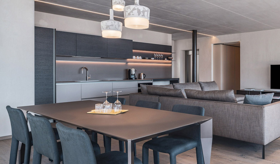 Kitchen by Dada in one of the suites of Arua Private Spa in Merano