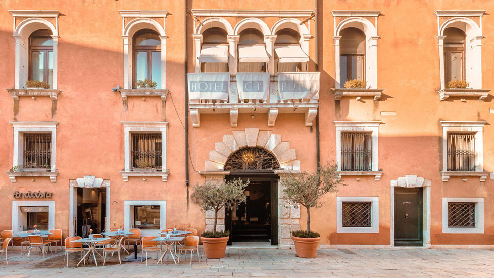 Traditional Facade of one of the best Boutique Hotels Italy has to offer: Ca' Pisani Hotel in Venice