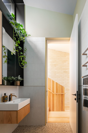 Light and elegant material palette for this Open Space Project designed by Carter Williamson, one of the top interior designer Sydney has to offer