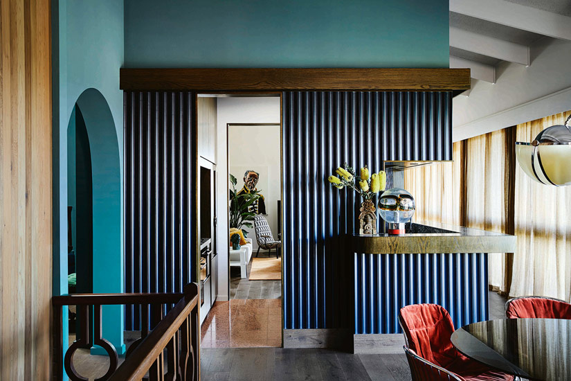 Eclectic Style and Italian Icon pieces for this interior design made by Flack Studio, one of the design studios we selected in our list of the best interior designers melbourne has to offer