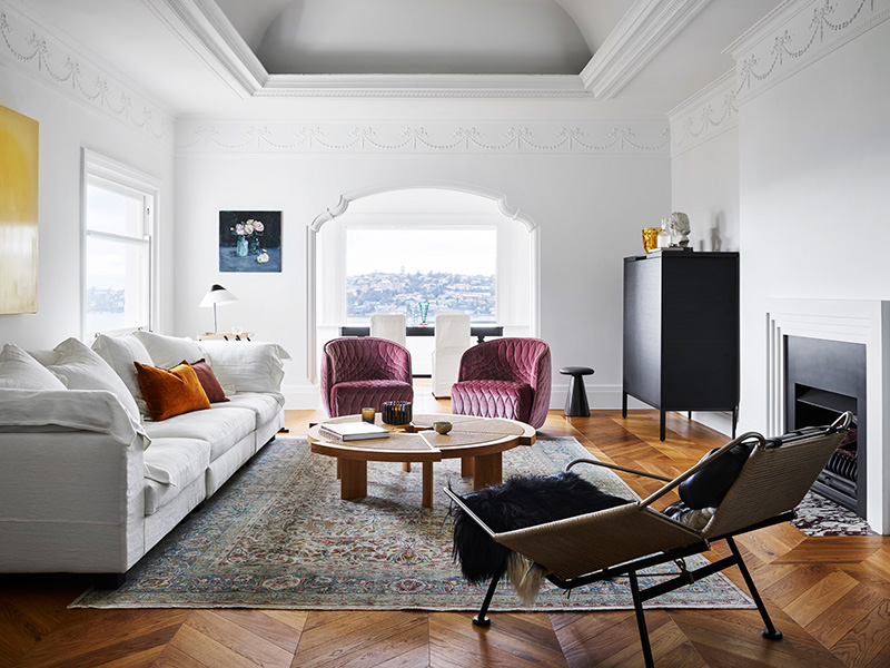 Coastal-fusion Style for this Living Room designed by Arent & Pyke: Best Interior Designer Sydney has to Offer