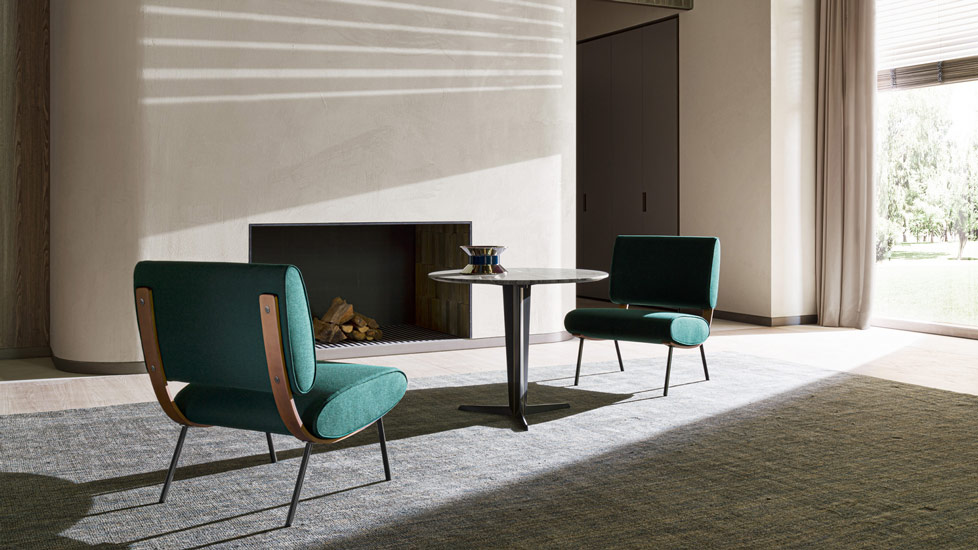 The timeless and iconic Round D.154.5 Armchair by Gio Ponti for Molteni&C, one of the best Luxury Italian furniture Melbourne has to offer.