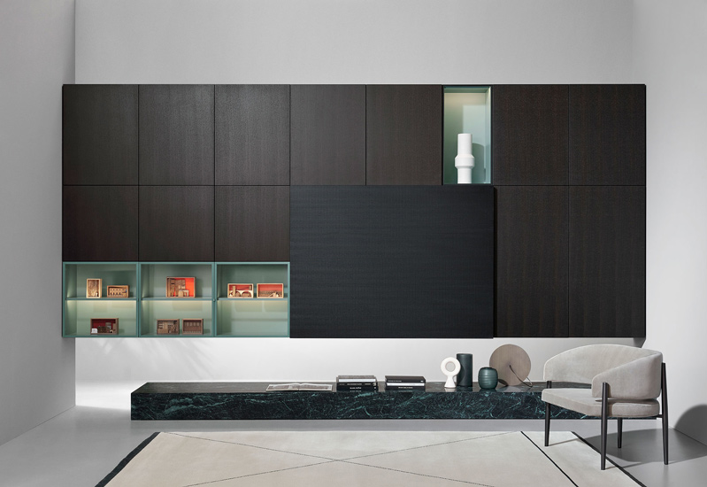 Modern Wall Units designed by Piero Lissoni for Porro, one of the best Luxury Italian furniture Melbourne has to offer.