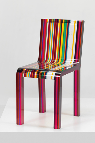 The Iconic Rainbow chair for Cappellini, one of the best Luxury Italian furniture Melbourne has to offer.