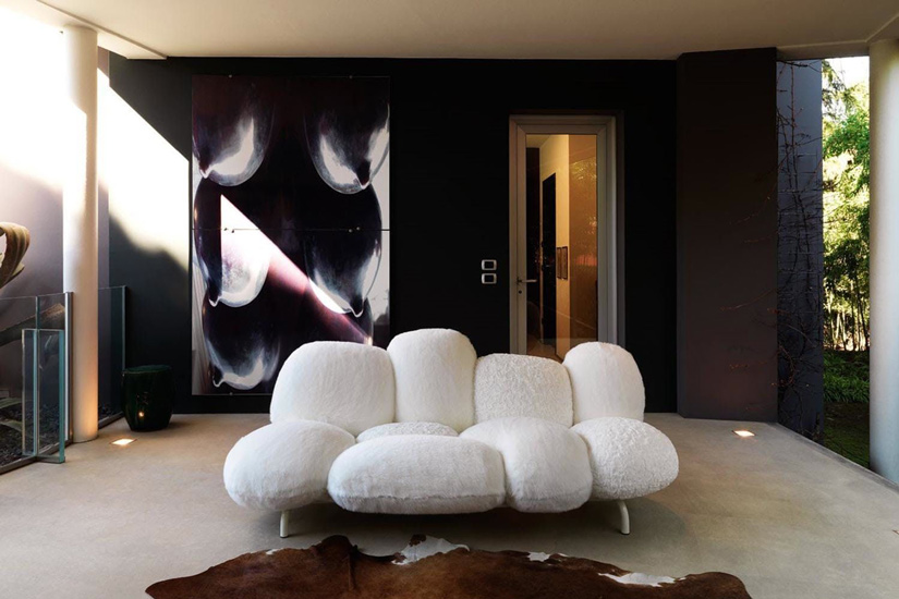 The Cipria Sofa by Campana for Edra, one of the best Luxury Italian furniture Melbourne has to offer.