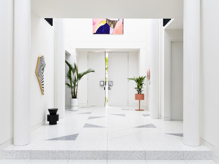 Palm Spring Style of Back to the future House designed by Doherty Design Studio, one of the Design firms we selected in our list of the top interior designers Sydney has to offer