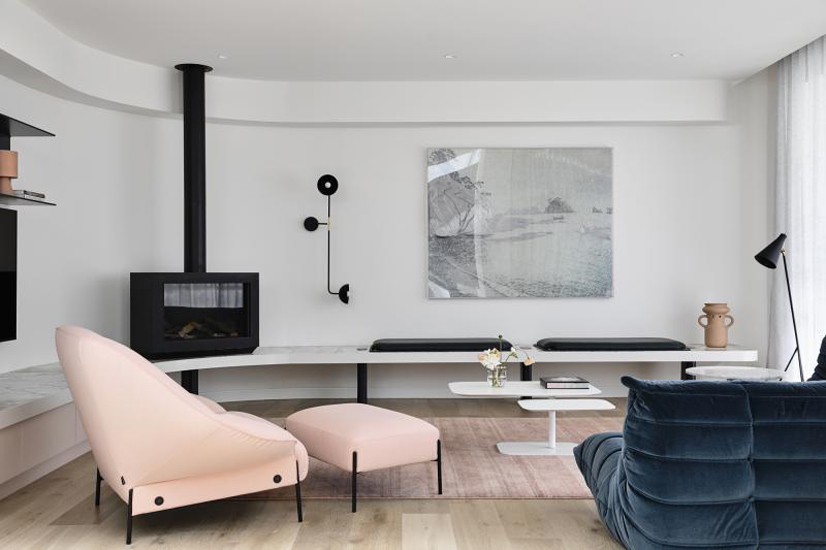 Living room of Back to the future House designed by Doherty Design Studio, one of the Design firms we selected in our list of the top interior designers Sydney has to offer