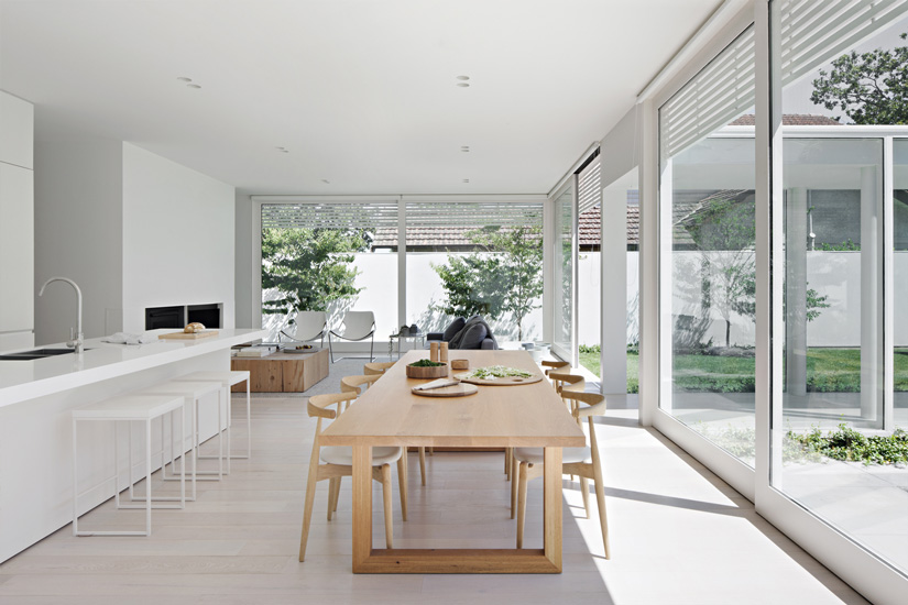 large windows that illuminate Bourne Road Residence, designed by studiofour, one of the top interior designers melbourne has to offer