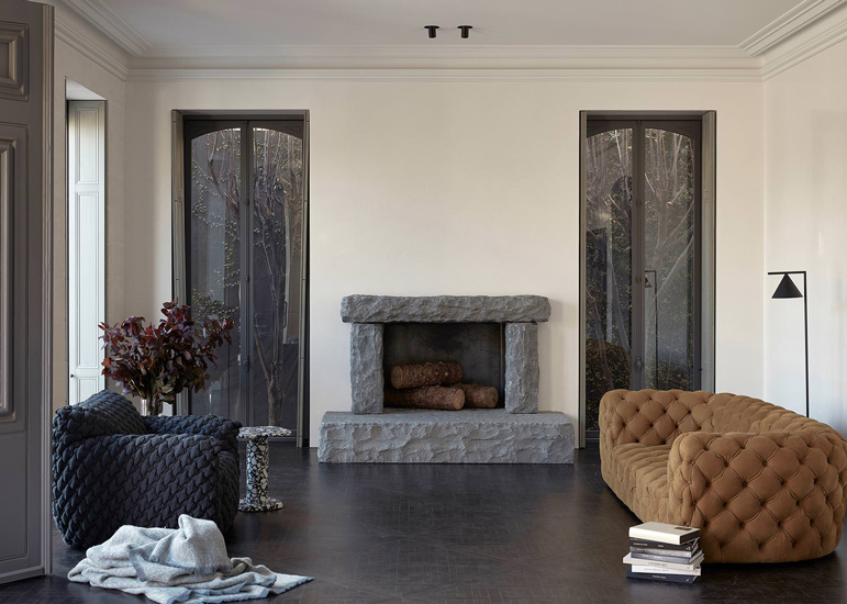 Living Room of Ottawa House designed by Fiona Lynch, one of the design studios we selected in our list of the best interior designers melbourne has to offer