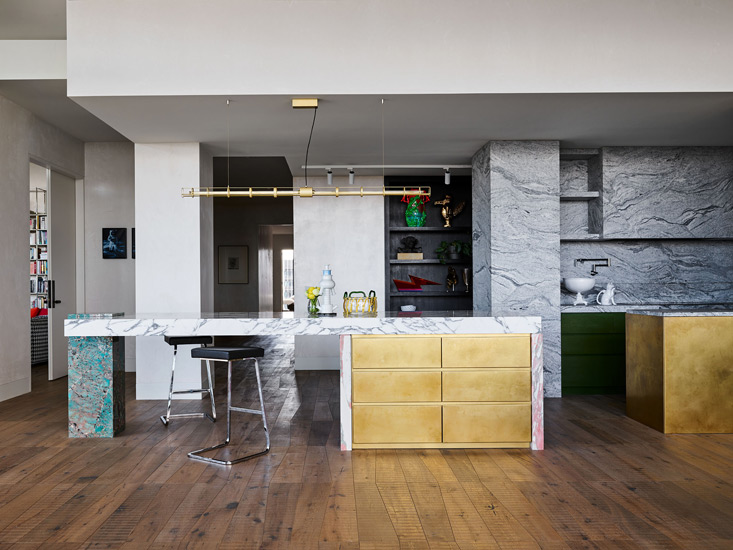 Kitchen area designed by kpdo, one of the design studios we selected in our list of the top interior designers melbourne has to offer