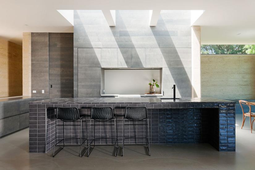 Sculptural Kitchen Island designed by Robson Rak Architects in Melbourne