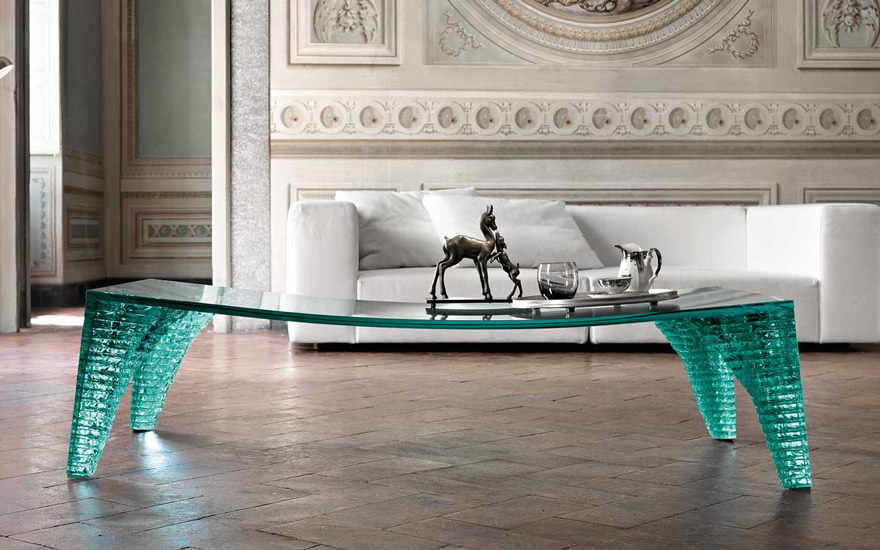 Atlas coffee table designed by Danny Lane for Fiam Italia, one of the most finest italian furniture Sydney has to offer